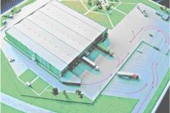 Планируемый вид складского комплекса с птичьего полета